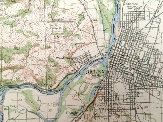 Illinois 1926 US Geological Survey Topographic Map \u2013 Baylis Griggsville Pike County New Salem Newburg Derry Antique Pittsfield Atlas