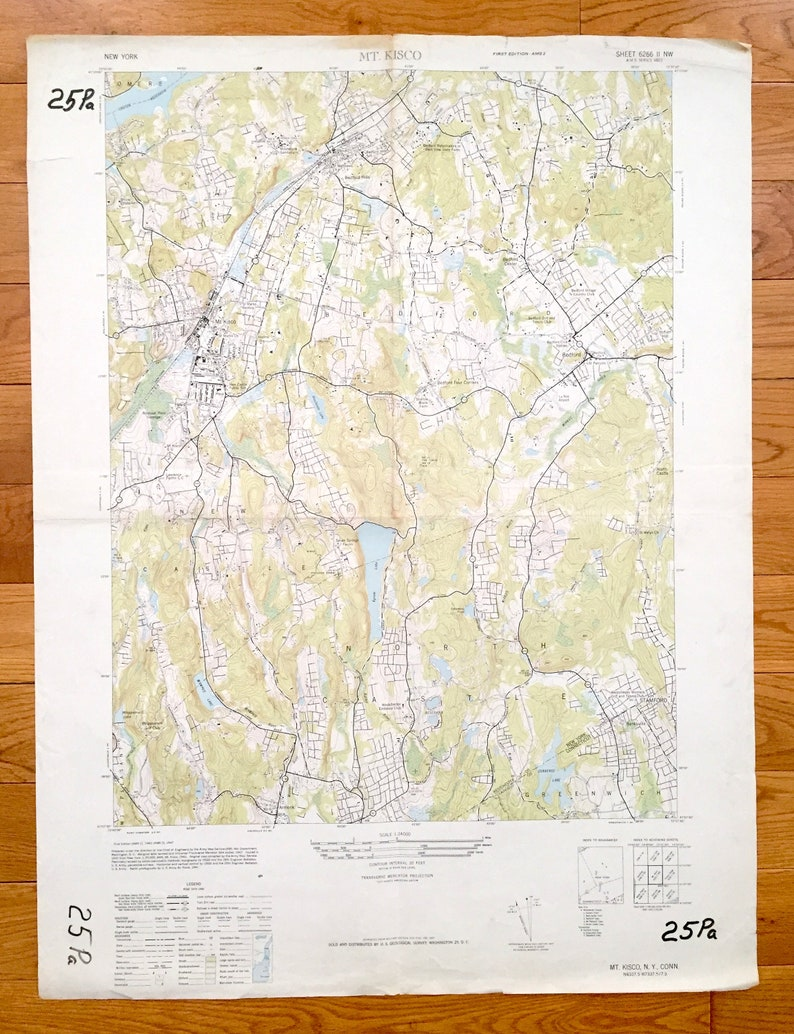 6390605817eb Antique Mount Kisco New York 1943 US Geological Survey