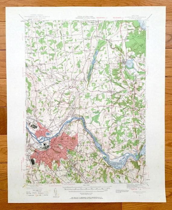 Schenectady New York Map.Antique Schenectady New York 1947 Us Geological Survey Etsy