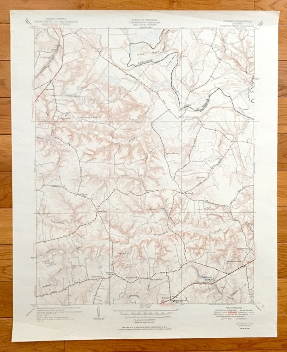 Antique Studley Virginia 1951 Us Geological Survey Etsy
