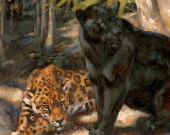 Cats Of The Jungle ORIGINAL OIL PAINTING