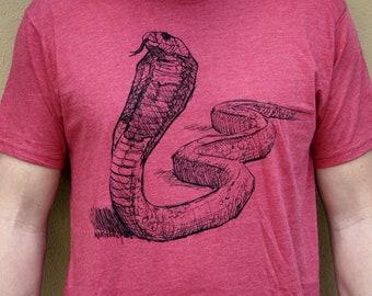 COBRA T-SHIRT, Men's/Unisex Shirt, Fauna Shirts, Fitted quality shirt