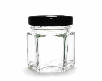 Hexagon Jars | Hexagon Glass Candle Jar | Hexagonal Glass Jar | Hexagon Glass Jar | Candle Containers Empty | Empty Candle Jars with Lids