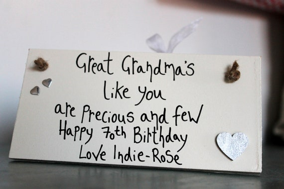 70th Birthday Gift Grandma Gifts Personalized For