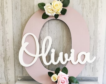 Nursery Name Sign Baby Girl-Playoom Wall Art-Kids Name Sign for Bedroom-Kids Room Decor for Girls-Gift for New Parents To Be-Birthday Gifts