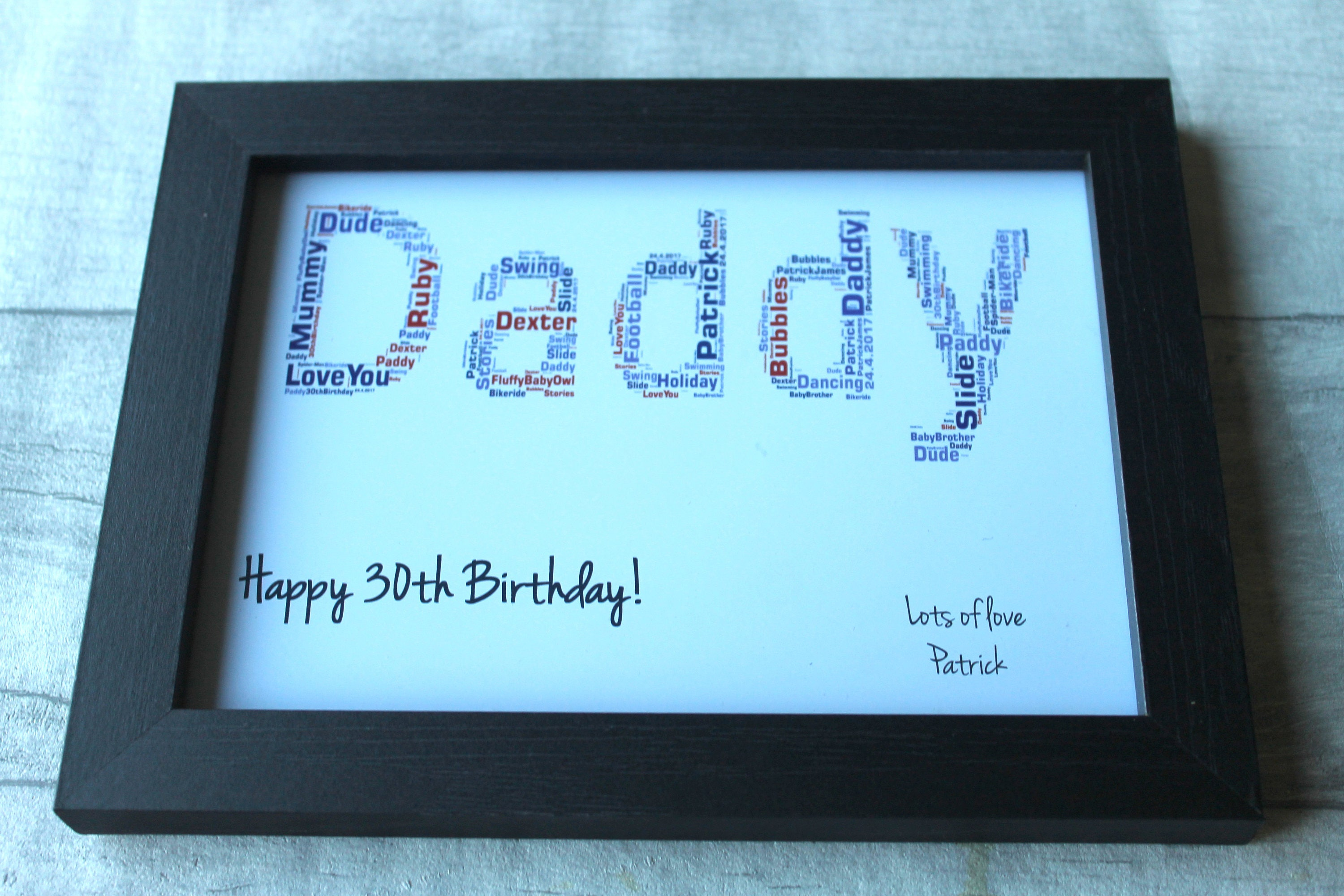 Dad 50th Birthday Gift Frame
