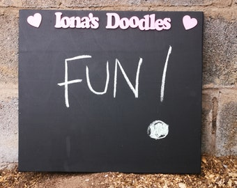 Chalkboard Sign Outdoor-Blackboard for Kid-Chalkboard for Playroom-Playhouse Accessories Outdoor-Outdoor Chalkboard for Kids-Chalkboard Gift
