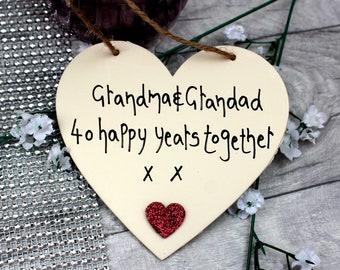 40th Anniversary Ruby Wedding Gift - 40th Wedding Anniversary Personalized - 40th Anniversary Personalized -40th Anniversary for Grandparent