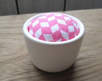 Pink pattern pincushion