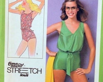 50571641b9 Misses Belted Swimsuit or Leotard Sewing Pattern
