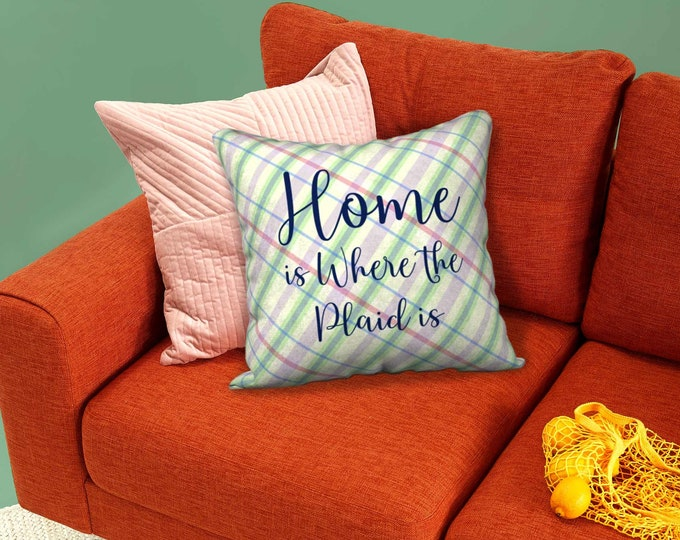 Designer Pillow Case (18x18) - Summer Paid | Plaid Pillow Cover