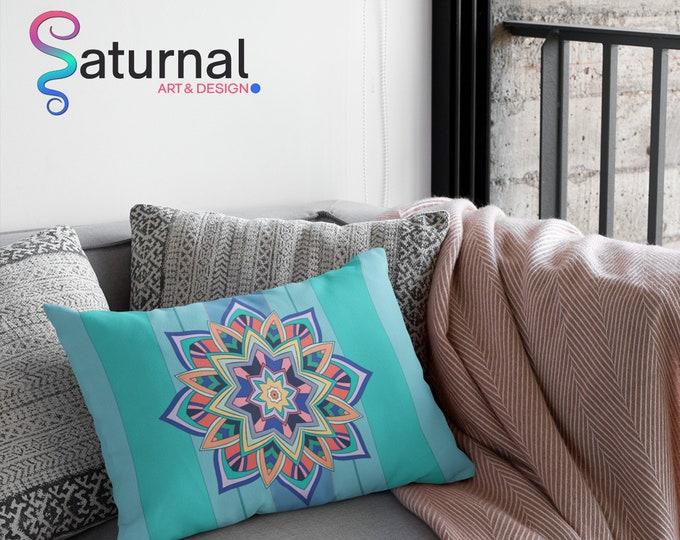 Spun Polyester Lumbar Pillow - Expansion Mandala