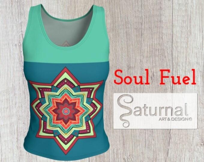 Mandala Printed Fitted Tank Top - Soul Fuel