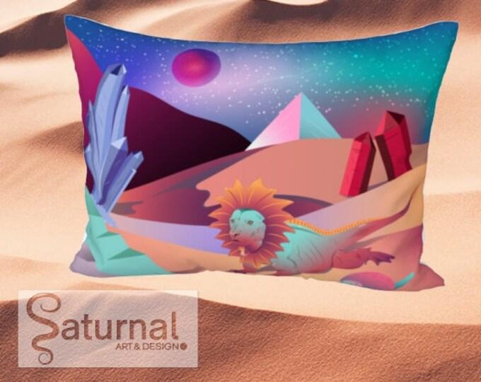 Bed Pillow Sham - Sunrise in the Crystal Desert