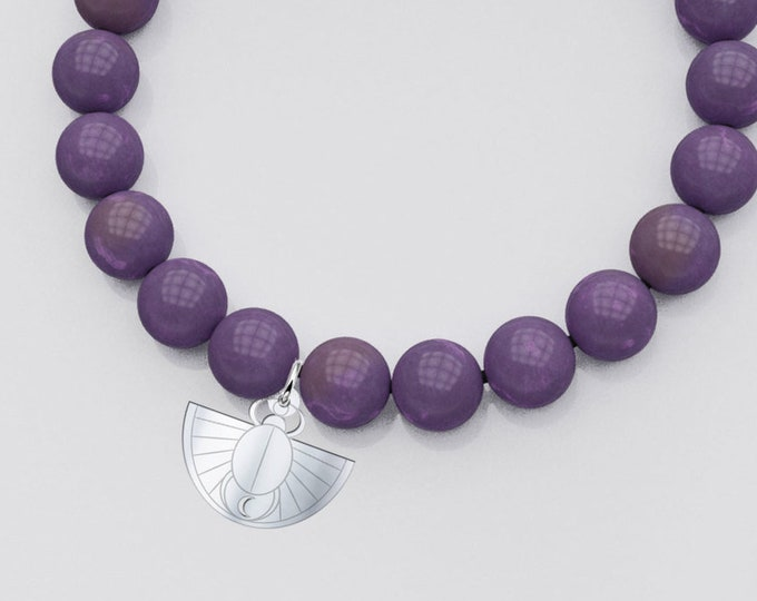 Gemstone Bracelet with Sterling Silver Charm - Enduring