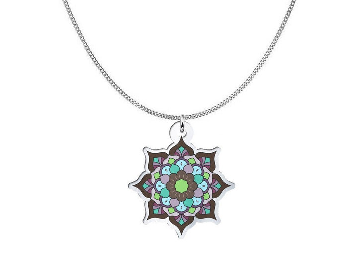 Mandala Pendant Necklace - Chocolate Delight