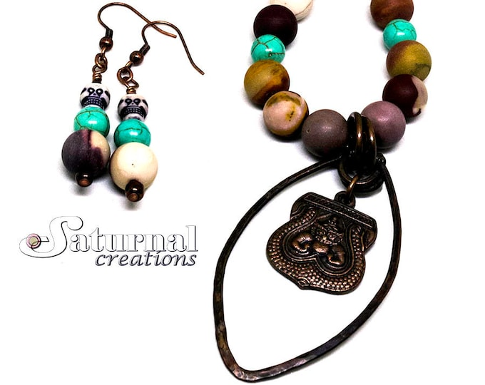 Spirit: Copper wire necklace, Crystal necklace, Spiritual necklace