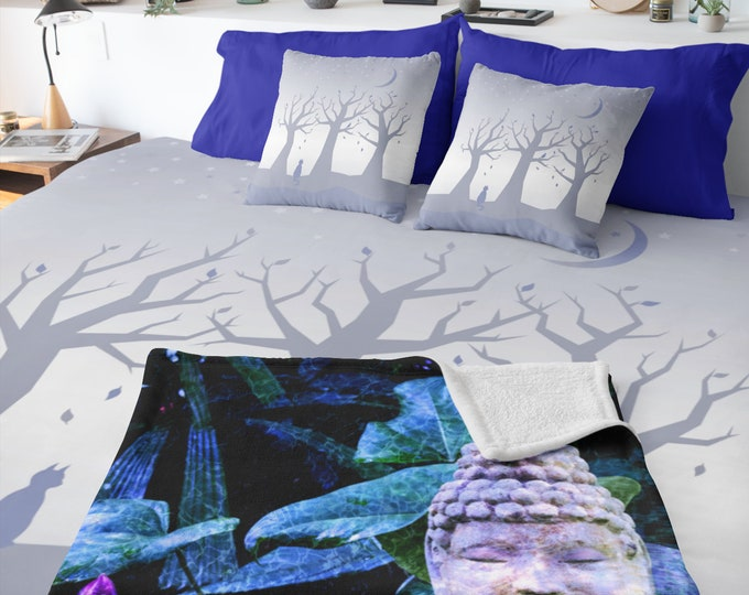 Trees and Cat Duvet Cover - Beauty At Rest | Moon and Stars Duvet