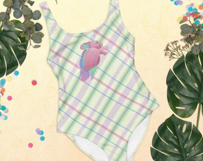 One-Piece Swimsuit | Scottish Seabunny | Plaid Swimwear