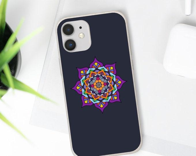 Printed Biodegradable Phone Case - Solar Heat mandala