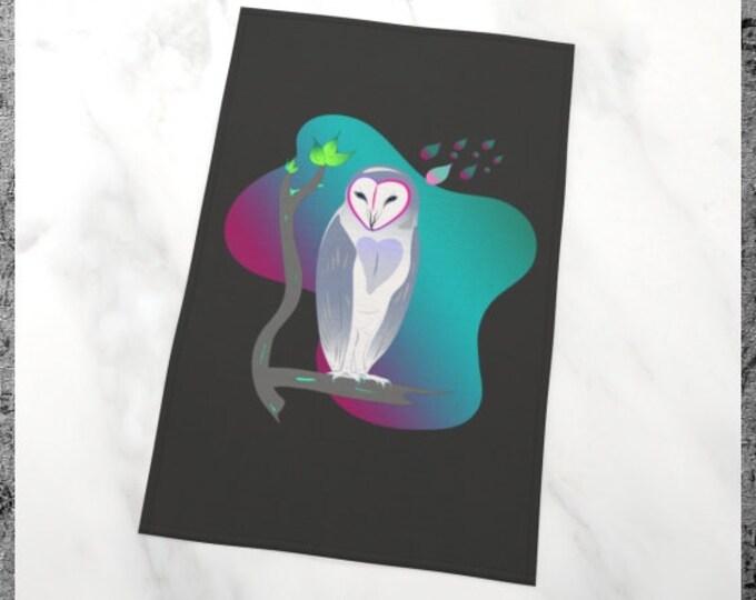 Printed Tea Towel - Owl in Repose