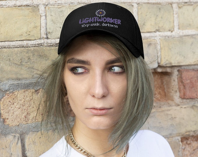 Embroidered Twill Hat - Lightworker, Step aside darkness