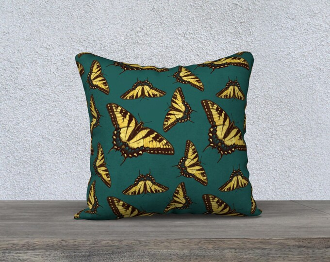 Butterfly Print Pillow Case (18x18) - MudPuddler | Buttery Fly Pattern Pillow Cover