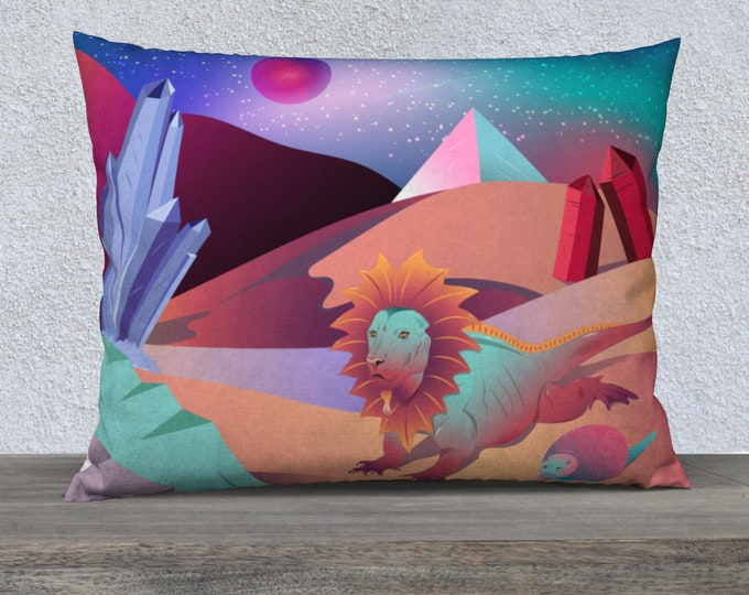 Pillowcase - Sunrise in the Crystal Desert