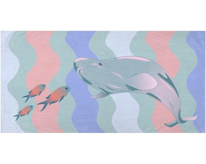 Nautical Bath Towel - Whale Of A Time