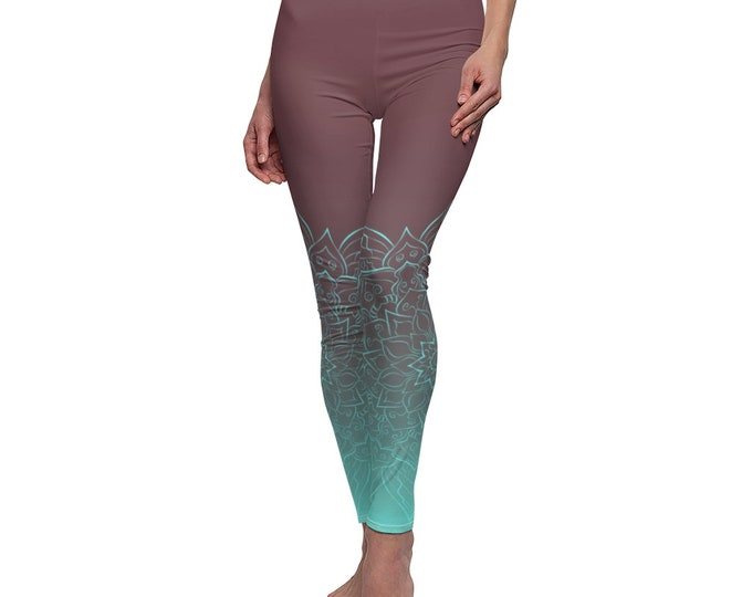 Women's Casual Leggings - Rusted Ice