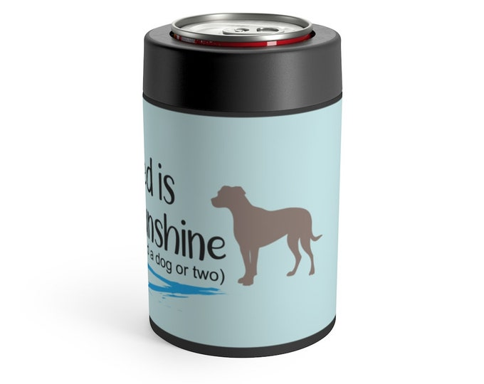 Printed Can Holder - All I need is Beer and Sunshine | Cute Dog Can Holder
