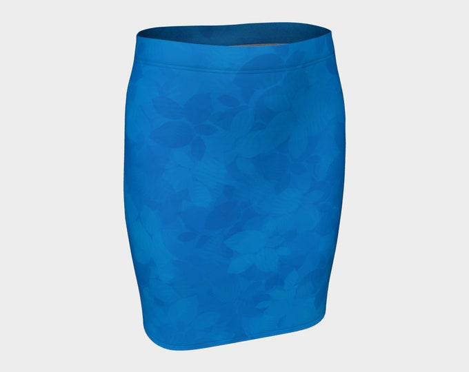 Fitted Skirt - Tropical Dream | Blue Nautical Fitted Skirt | Beach Wear Skirt