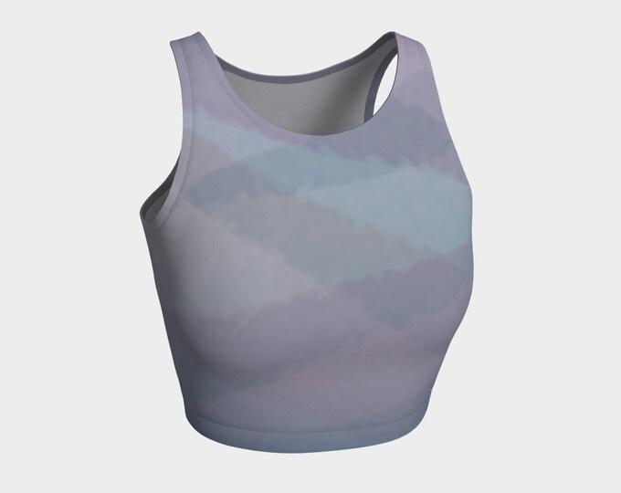 Printed Crop Top - Dusk | Pink and Purple Crop Top