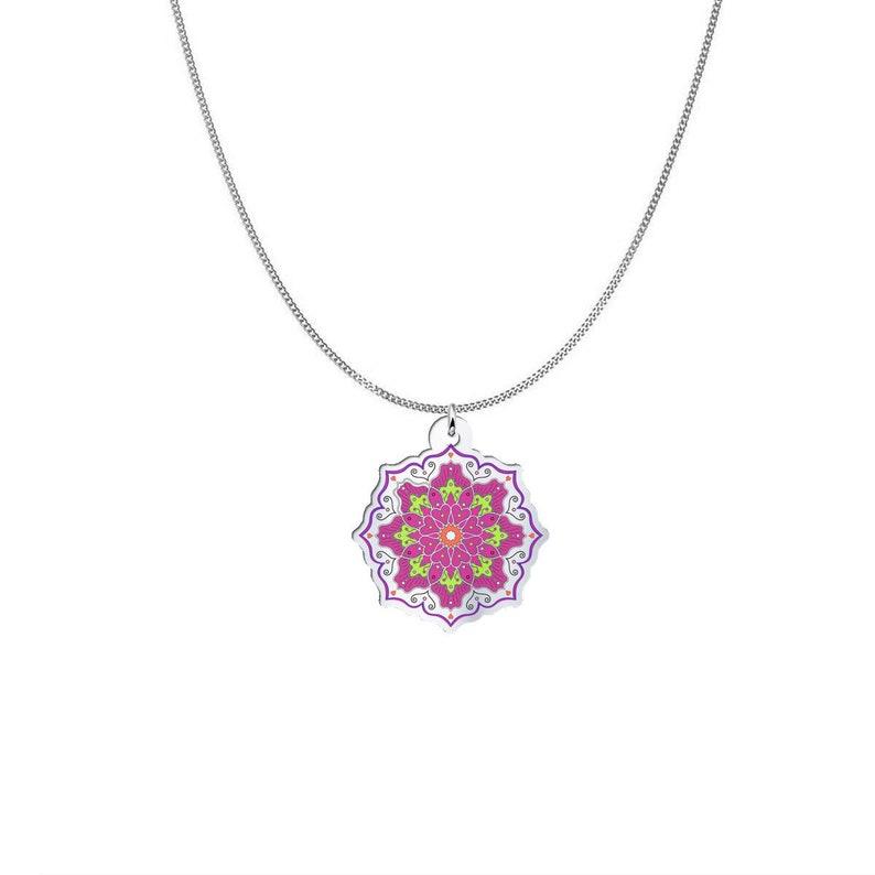 Mandala Art Necklace Mandala Necklace Mandala Pendant Art Print Pendant Mandala Love Mandala Charm Mandala Pendant Necklace