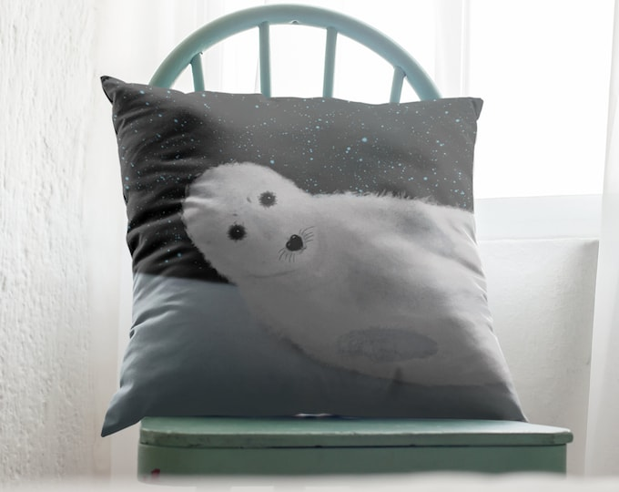 Baby Seal Pillow Case (22x22) - Star Bathing