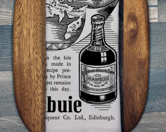 Vintage Drambuie Illustration Tea Towel Bar Accessory