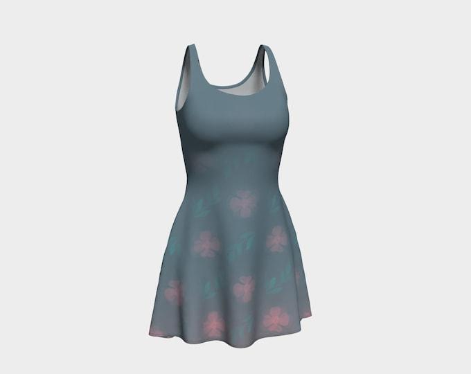 Flared Floral Dress - Dusty | Floral Skater Dress