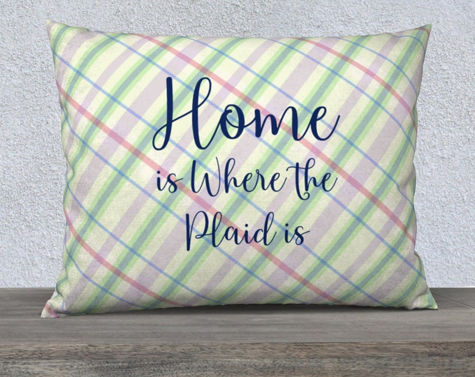 Designer Pillow Case (26x20) - Summer Paid   Home is Where the Plaid Is