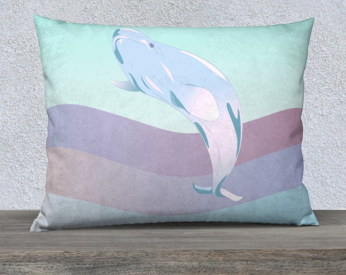 Retro Whale Pillow Case (26x20) - Waves of Hope Waves of Hope