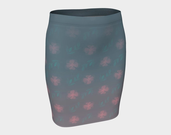 Fitted Skirt - Dusty | Floral Pencil Skirt