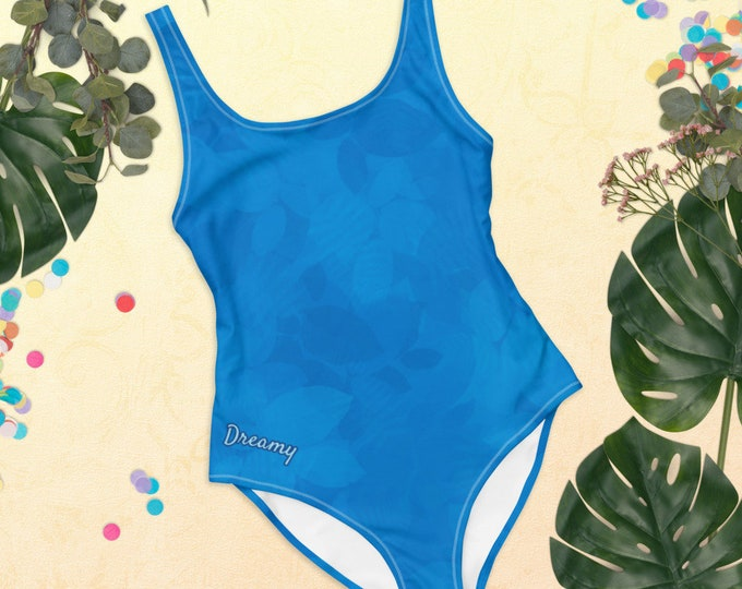 One-Piece Swimsuit - Tropical Dream | Blue Swimsuit | Tropical Swimsuit