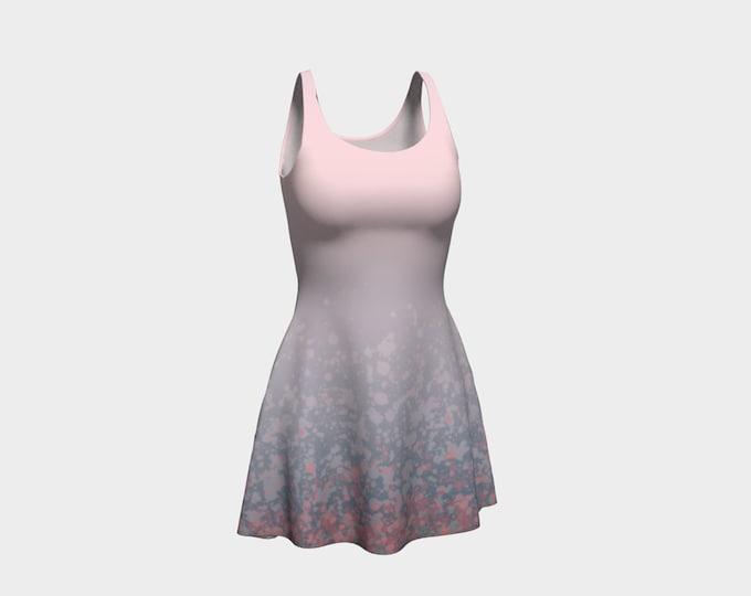 Paint Splatter Flare Dress - Sunrise | Pink Skater Dress | Light Pink Flare Dress