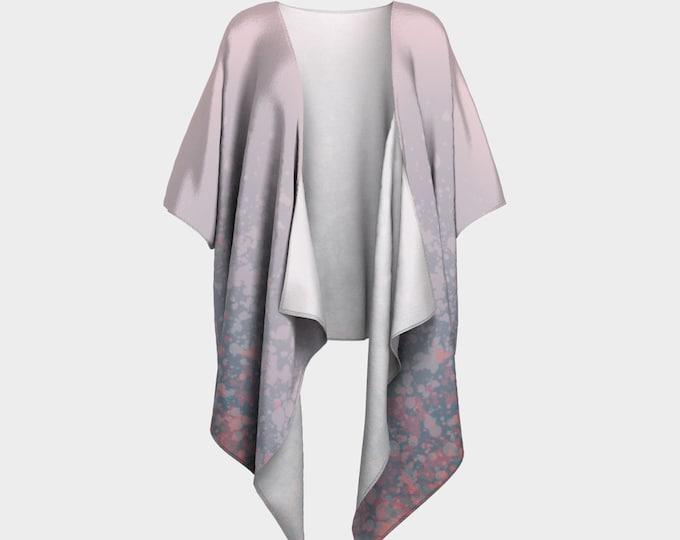 Draped Kimono - Sunrise | Paint Splatter Kimono | Pink Kimono