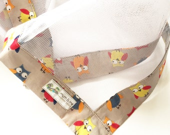 Food Cover Netting - Bright Owls - 3 Sizes (Choose Your Size) -  Protect your food from Insects - NET006
