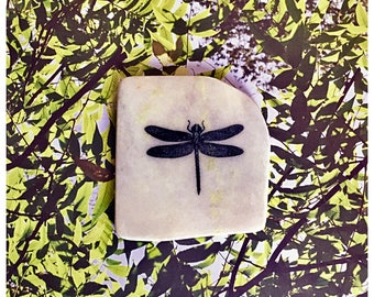 Natural Stone Coaster - Dragonfly