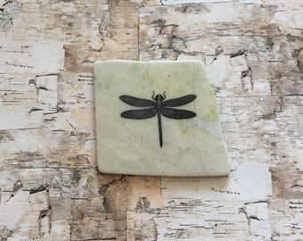 Natural Stone Coaster | Dragonfly