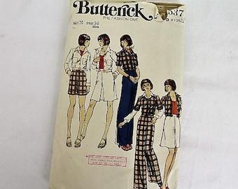 Vintage Butterick Jacket, Skirt, Pants & Shorts Sewing Pattern/ 3537/Craft Supplies and Tools/Haberdashery/ Sewing Pattern/ Sewing ( 1908K)