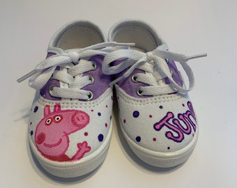 168c33e5b836 Hand Painted Custom Peppa Pig Shoes