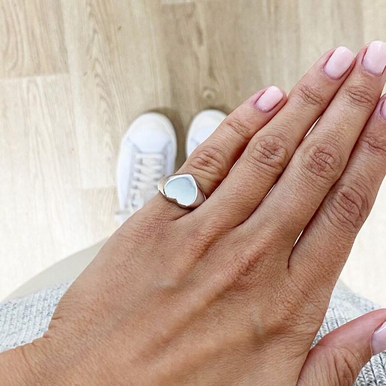 Love Rings Anniversary Rings Engraved Heart ring Statement rings Silver Heart Ring Heart rings for women| Gift for women World