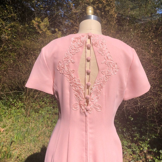 Sophisticated Pretty in Pink 1980's dress with But